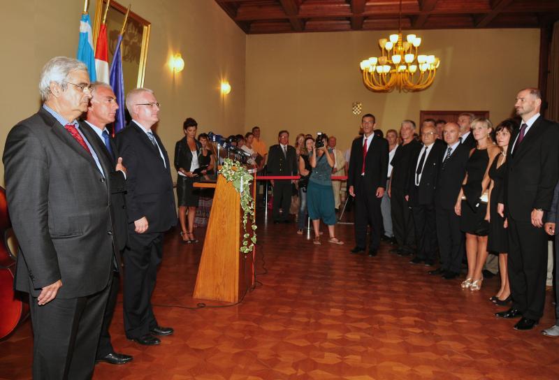 Predsjednik Josipović na obilježavanju 20. obljetnice šibenskog rujanskog ratnog podviga