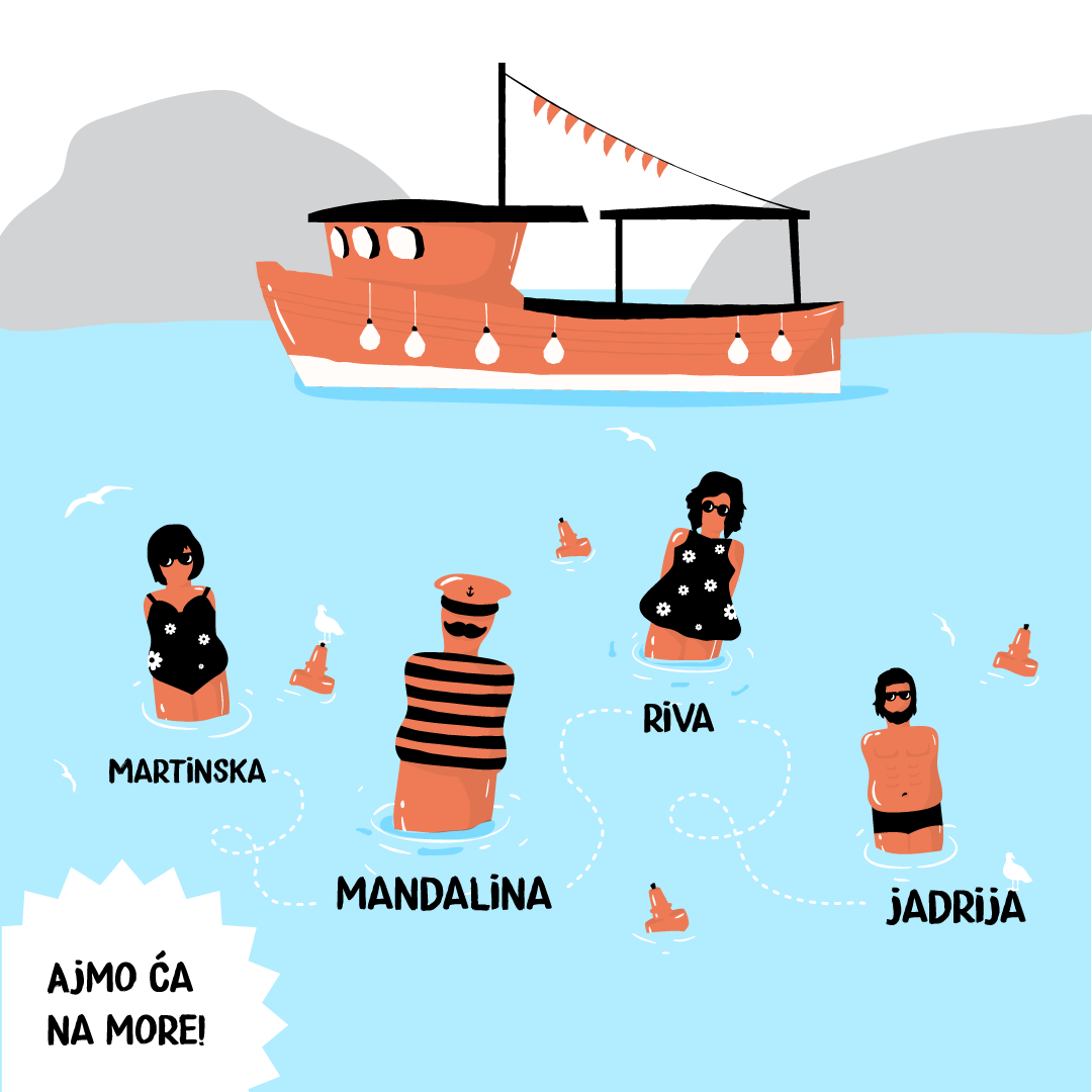 Vozni red brodskih linija do Jadrije i Martinske
