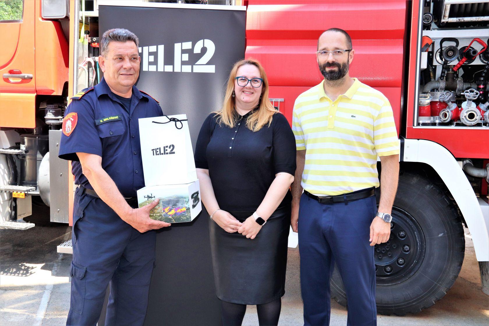 Javnoj vatrogasnoj postrojbi Grada Šibenika Tele2 donirao dron