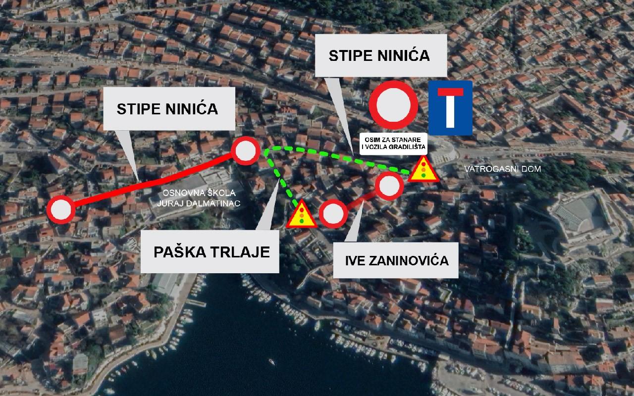 Radovi u Ulici Ive Zaninovića