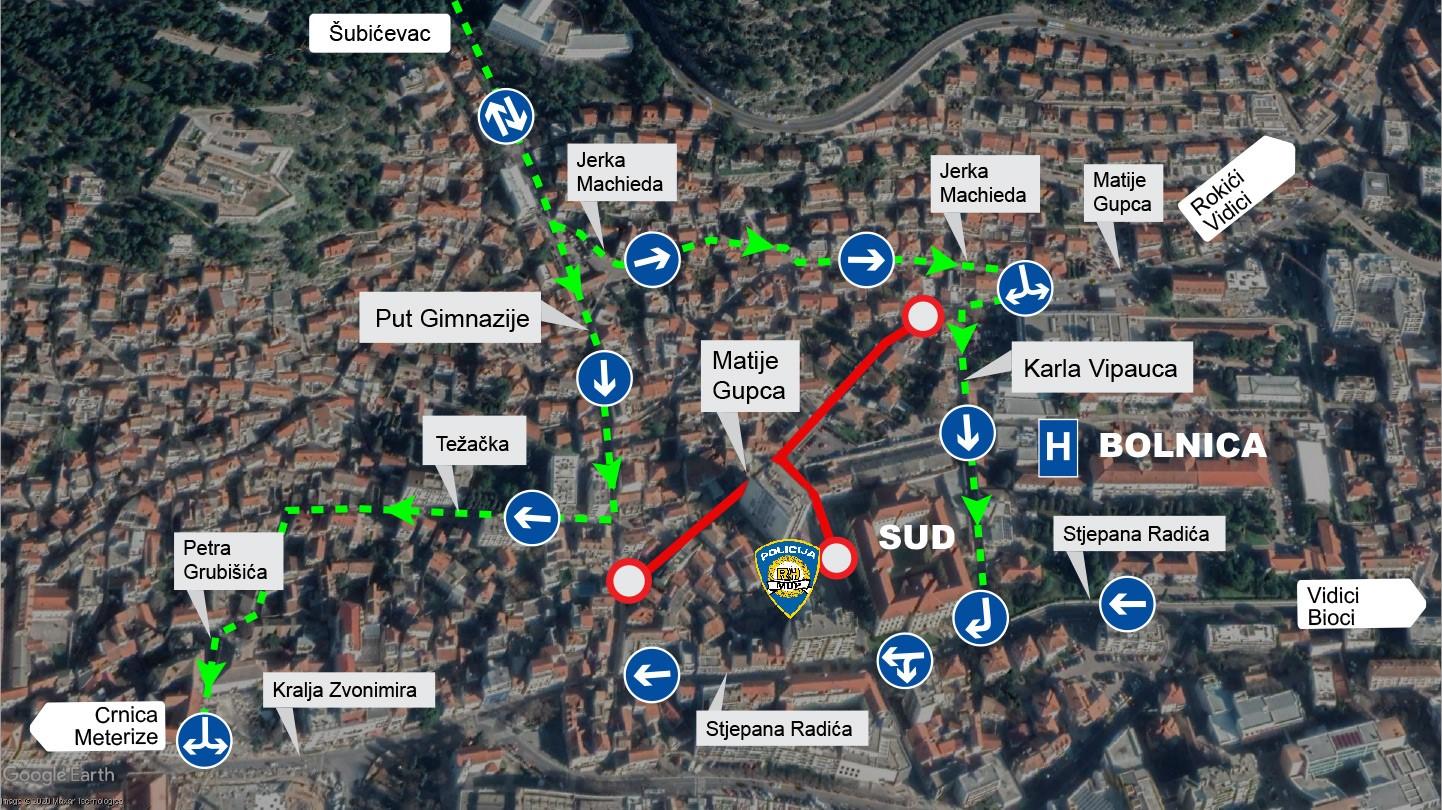 Promjena prometne regulacije u ulicama Put Gimnazije i Karla Vipauca