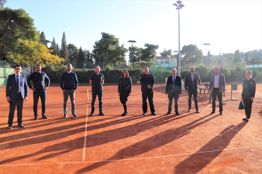 Delegacija Hrvatskog teniskog saveza u posjetu Šibeniku