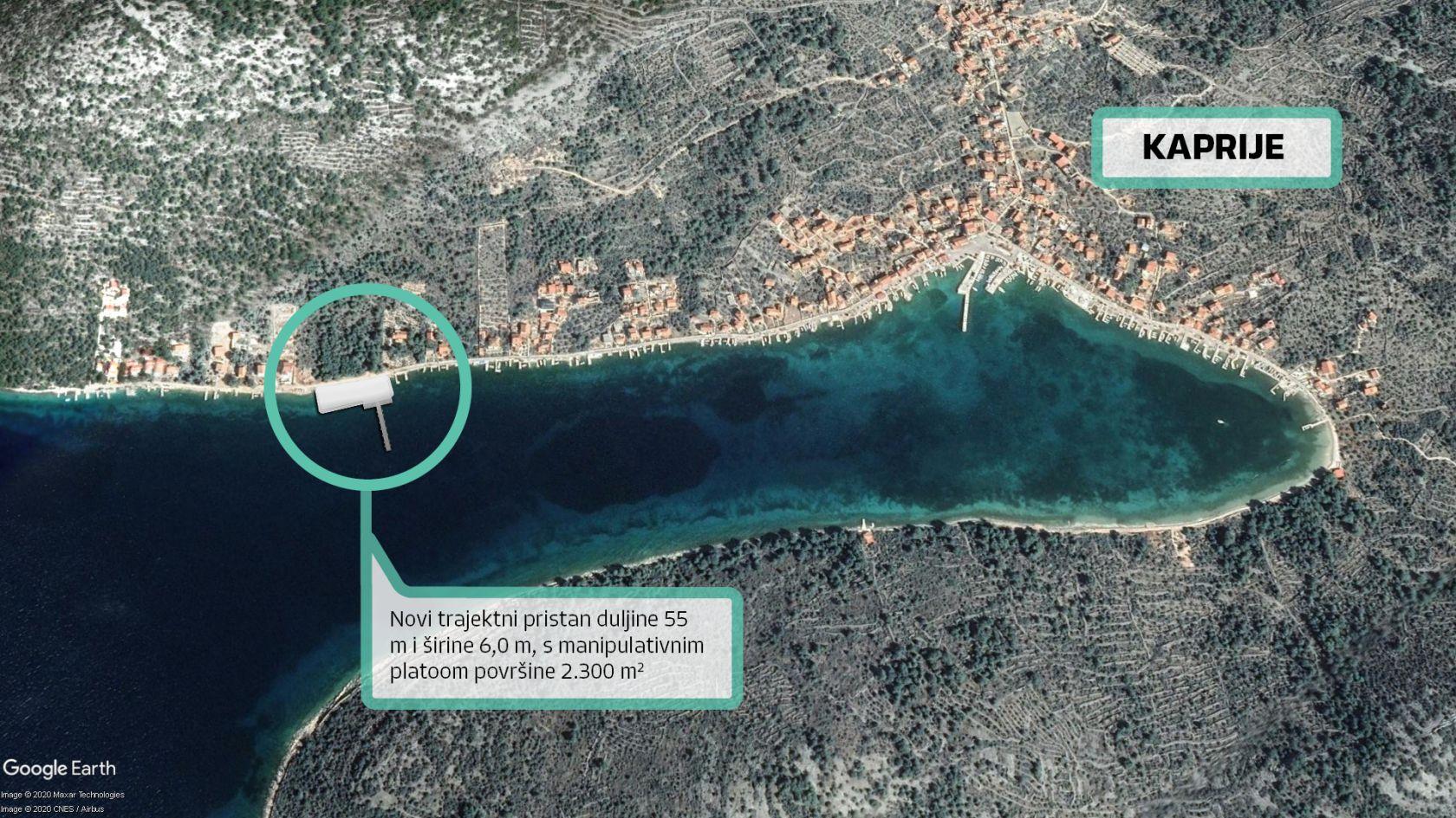 Novi trajektni pristan na Kapriju omogućit će bolje veze prema udaljenim otocima