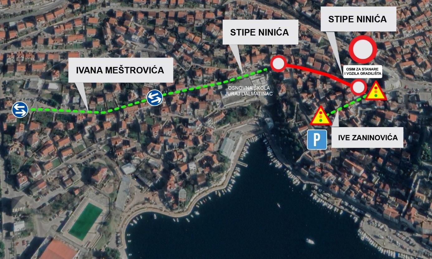 Od utorka 19. siječnja za promet se zatvara križanje ulica Paška Trlaje i Stipe Ninića