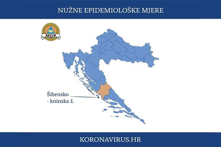 Nužne epidemiološke mjere za područje Šibensko-kninske županije