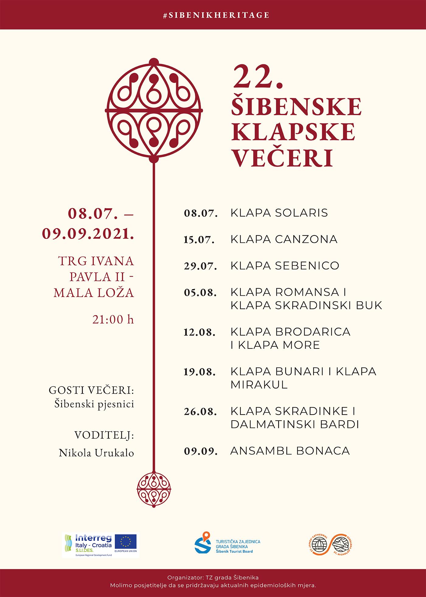 Turistička zajednica grada Šibenika provodi pilot projekt Dan šibenske baštine
