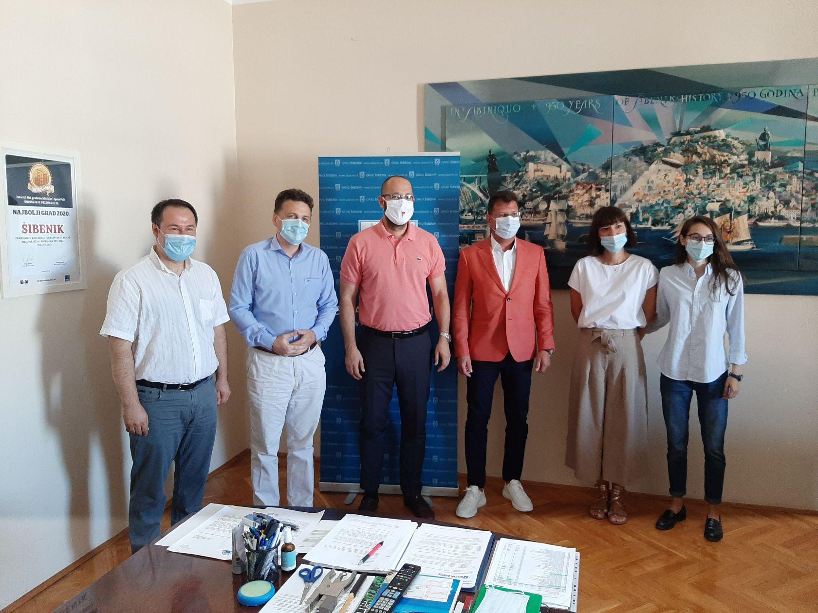 Zamjenik gradonačelnika Danijel Mileta primio rumunjskog gradonačelnika Livia Butnaria sa suradnicima