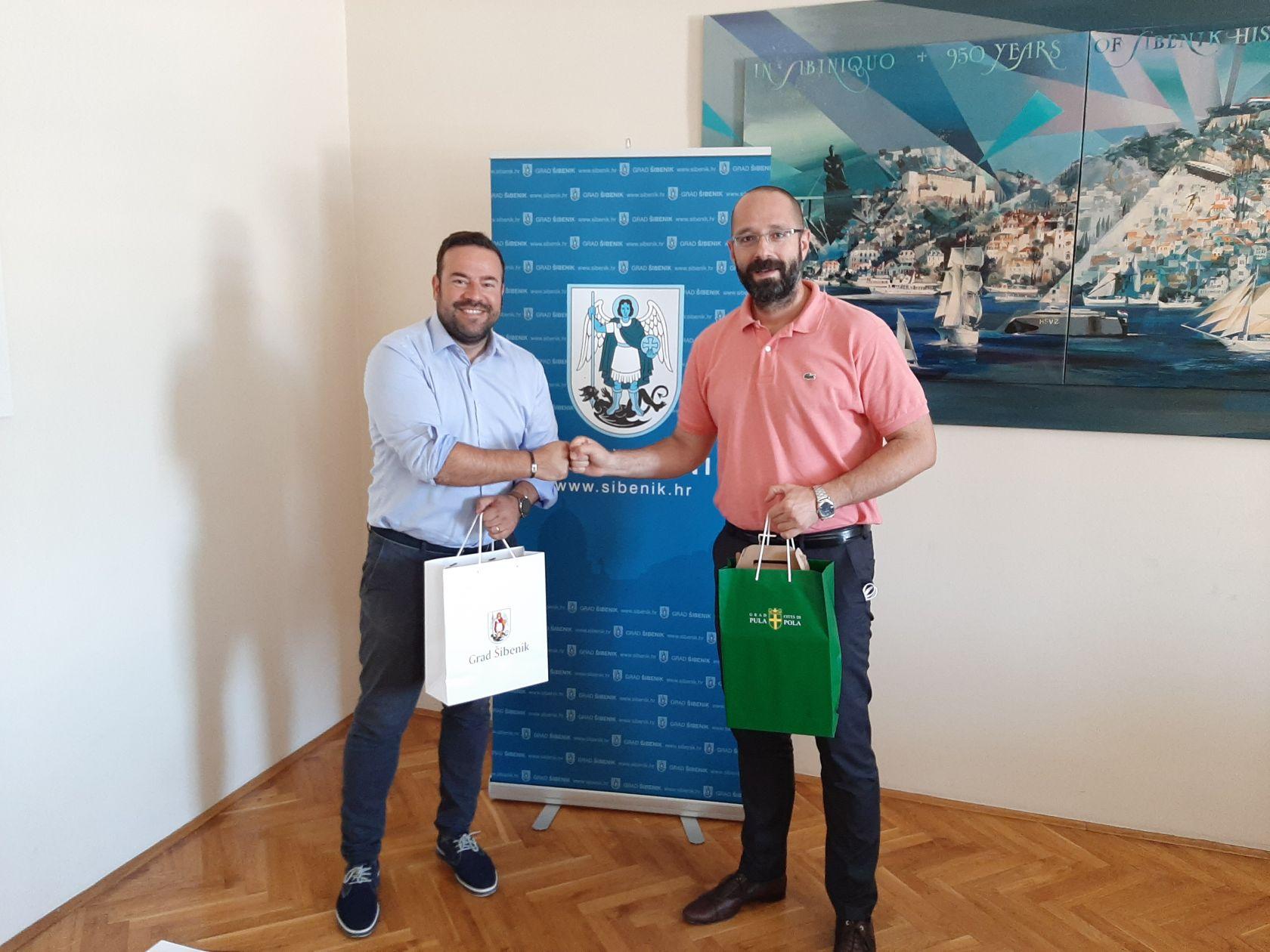 Zamjenik gradonačelnika Danijel Mileta održao sastanak s gradonačelnikom Pule Filipom Zoričićem