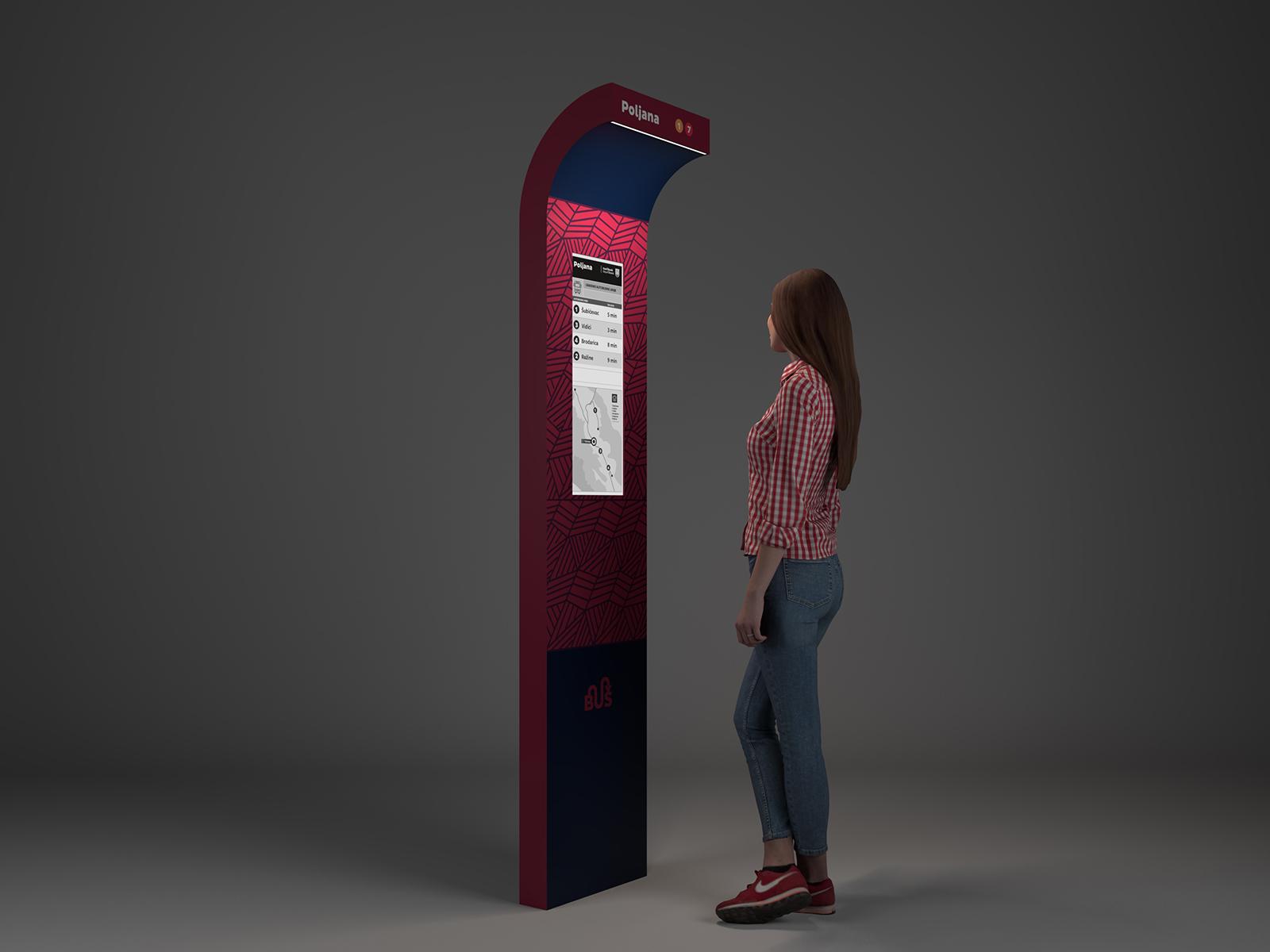 Grad Šibenik nabavlja nove info displaye za autobusna stajališta