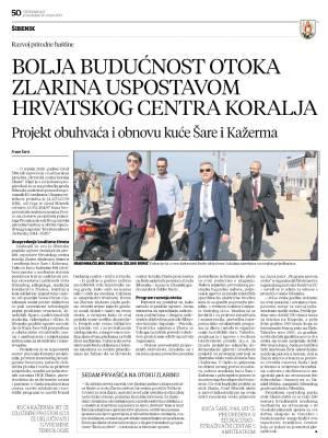 Bolja budućnost otoka Zlarina uspostavom hrvatskog centra koralja