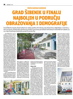 Grad Šibenik u finalu najboljih u području obrazovanja i demografije