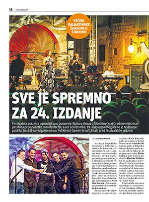 Sve je spremno za 24. izdanje Večeri dalmatinske šansone