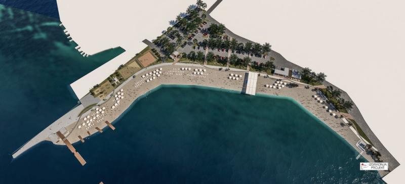 Projekt uređenja plaže u Brodarici (ex Rezalište)